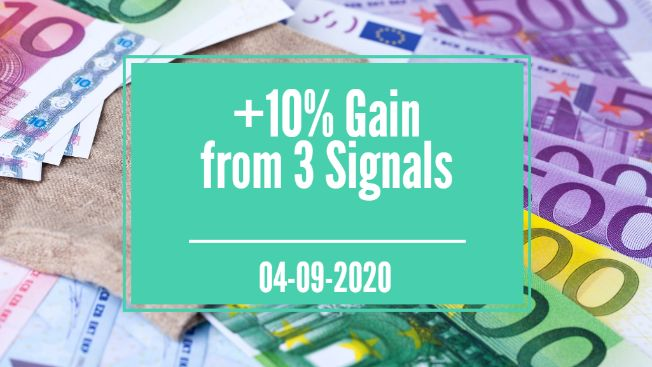 Three signals from yesterday earn +10%