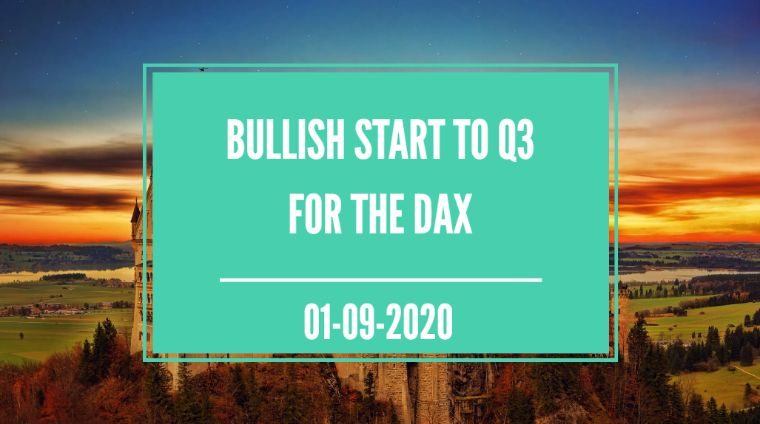 bullish start to q3 for the dax