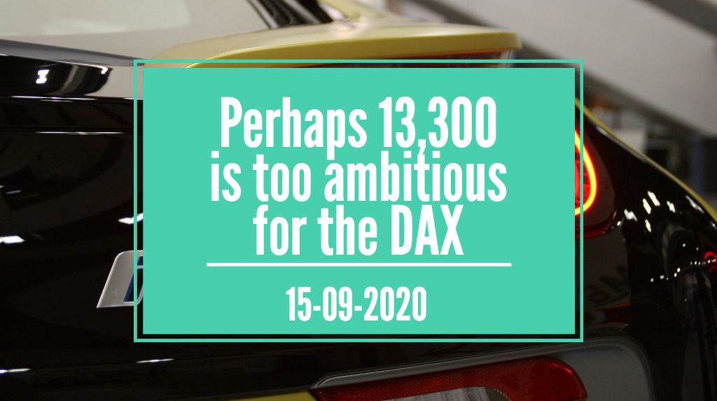 perhaps 13,300 is too ambitious for the DAX